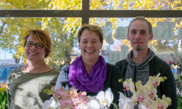 kukkakauppa länkipohjas henkilökunta